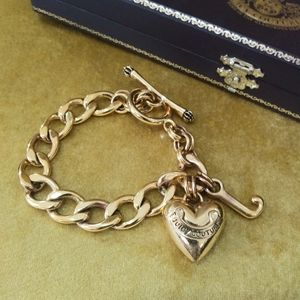 Juicy Couture gold thick chain bracelet